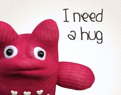sock monster needs a hug